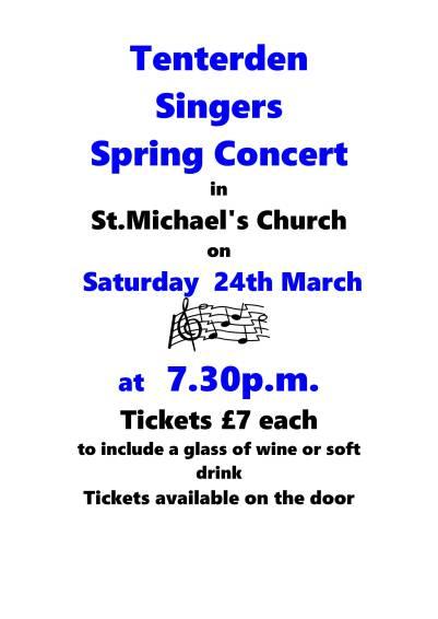 Tenterden Singers Poster March 2018 3
